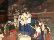 Equipe do Brasil levando o ouro no Mundial de 1993 - Palma de Majorca.