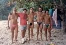 Tinha treino mas também tinha praia. E o Barrão não foi nessa por causa do aniversário da Bisa...