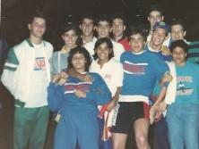 Amigos de vários clubes no brasileiro de inverno no Botafogo.