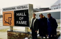 Arthur Albiero, eu e Jose Rodrigo Messias no Football Hall of Fame em Canton, Ohio.