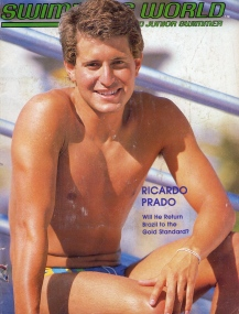 Ricardo Prado na capa da Swimming World