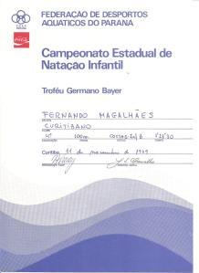 Diploma da prova em que obtive o índice para o brasileiro.