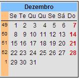 Calendário de 1980