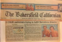 Matéria da capa do principal jornal local. Lelo e Messias com sonhos olímpicos!