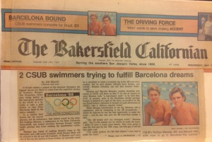 matéria da capa do principal jornal local.  Eu e Messias com sonhos olímpicos!