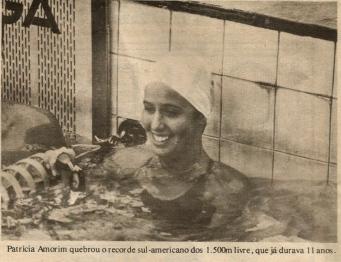 Rotina de Recordes Sulamericanos.