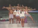 Imitando o Corcovado para comemorar a boa participação no TB (1994).