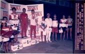 Final 400 Medley JD dez 1987. Ganen, Fabrizio, Mitropoulos, Sperb, eu, Romero, Veirano, Baroni.