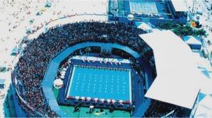 Fantástica Piscina do Mundial de Copacabana com capacidade para 70 mil pessoas