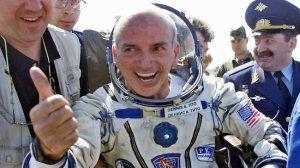 Dennis Tito ao voltar da Estacão Espacial!