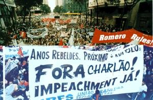 O fã clube do Rogério Romero compareceu ao protesto em grande número, mostrando grande poder de mobilização.