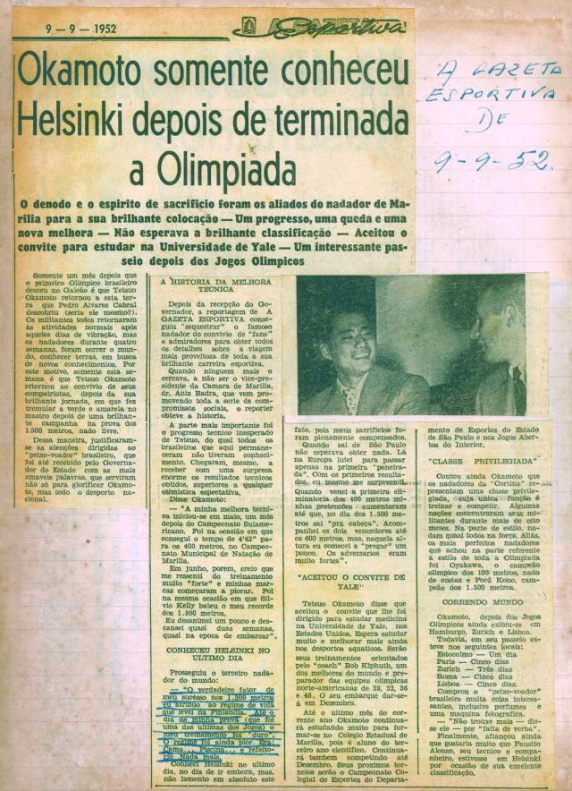Gazeta Esportiva 09 Setembro 1952