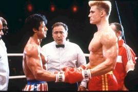 Momentos antes da luta entre Rocky Balboa e Drago