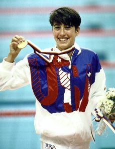 Janet Evans, ouro nas Olimpíadas de 88.