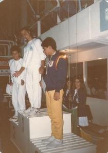 Sulamericano de Maldonado - Uruguai Podium dos 100 peito Juv A (1987).