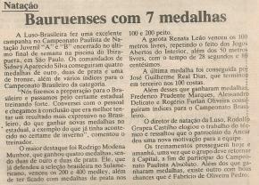 olha aí... Peba, mas ganhei os 400 Medley Juv A no Paulista...