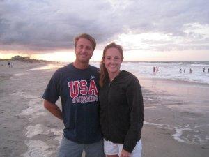 Steve e esposa dias antes da sua 4ª Seletiva Olimpica.