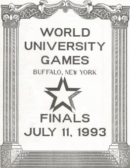 Programa da Final da Uiversíade 1993