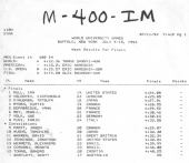 Resultado Final 400 Medley Universíade 1993