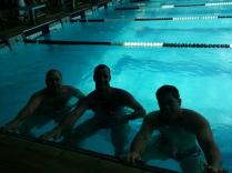 Bauruenses na piscina