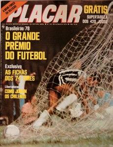 Revista Placar de 1978 com a tabela do brasileirão