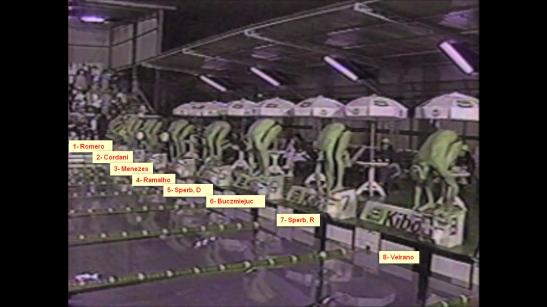 Balizamento da final dos 400 Medley fo Finkel de 1990