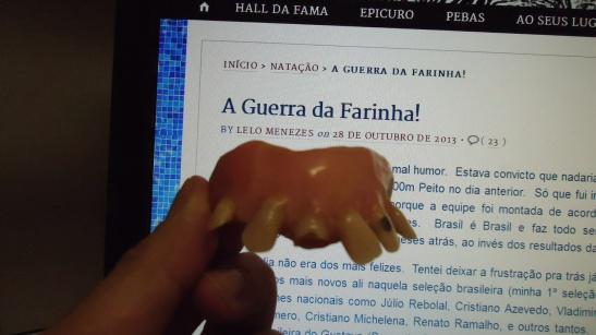 A famosa dentadura em foto cedida pelo próprio Julio!