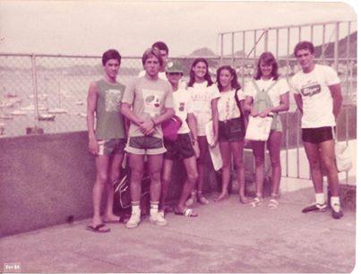 Renato Ramalho, Felipe Malburg, Gustavo Pinto, Eu (de boné), Marcia Resende, Andrea Maranhão, Glaucia Lunkmoss e Newton Kaminski