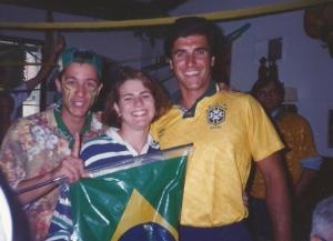 Comemorando a final da Copa de 94 no Missouri com Cesão e Clarinha