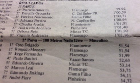 100m livre