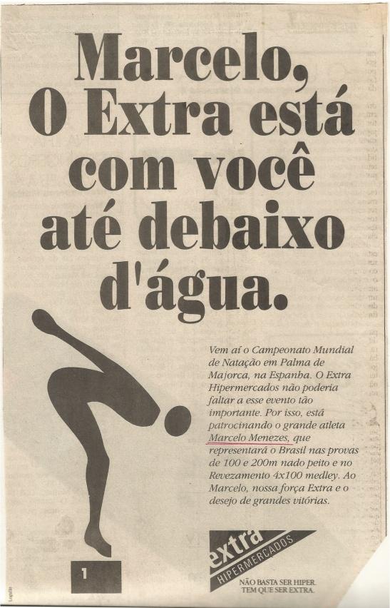 Bacana Divulgação em Pagina inteira no Estadão, em Novembro de 1993.