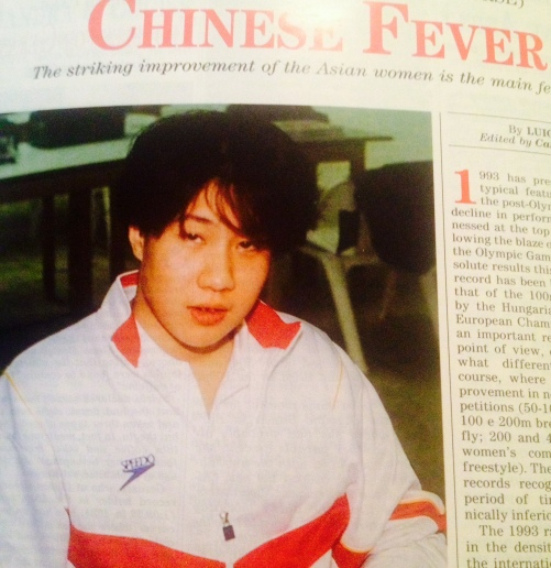 """Essa """"gatinha"""" e' a Giohong Dai, 3 ouros nesse Mundial.  As """"meninas"""" eram todas parecidas com ela."""