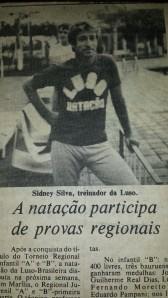 Sidney no Jornal da Cidade de Bauru há exatos 31 anos... 30 de Abril 1983