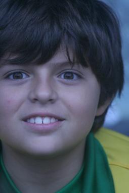 Futuro jogador de futebol profissional, atual Pebinha