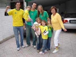 2006 - Brasil 5x2 Japão. Torcida na casa do Vovô Francis e Vovó Ni