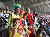 Com os belgas celebrando a vitória