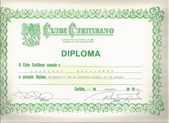 O brasileiro fui ruim, mas o ano foi de grande evolução. E tive reconhecimento no Clube Curitibano.