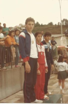 100m borboleta - prata Marcelo Lopes, bronze Anselmo Amin