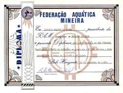 Diploma ao finalista (acervo Família De Poli)