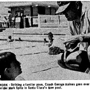 Coach Haines e Mark Spitz - Swimming World Mag Oct 1967 - Alguma coisa ele fez certo...