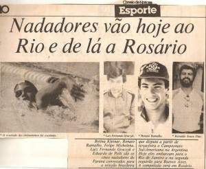 Extinto Jornal Correio de Notícias. Acervo Luiz Fernando Graczyk, como todos os outros recortes do sulamericano.