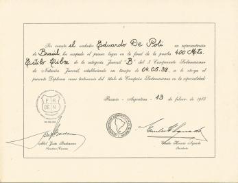 Diploma do Edu no 400m livre - 7s abaixo de Juiz de Fora
