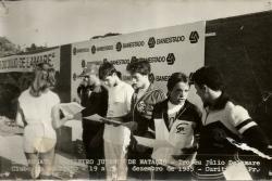 Premiação dos 200m peito Juvenil A - ouro para Felipe Michelena, Renato Cordani em 5o lugar.