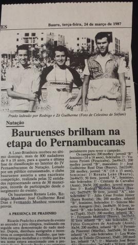 Eu, Ricardo Prado e meu bom amigo José Guilherme Real Dias - na Luso - Jornal da Cidade
