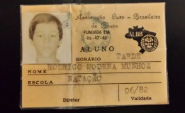 """1a carteirinha da Luso - 1982 - """"Carioca"""""""