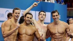 Equipe Brasileira campeã Mundial no 4x100m Medley