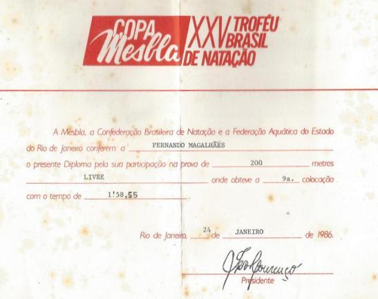 Diploma 200m livre