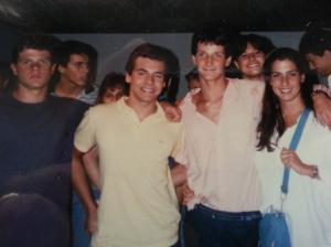 Carlos Becker Neto, Sérgio Penteado, Fernando Magalhães e Virginia Andreatta. Sorrindo ao fundo, Marcia Resende.