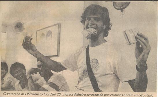Aos 20 anos, poucos dias  depois da tragédia do Ibirapuera, pegando firme na profissão.