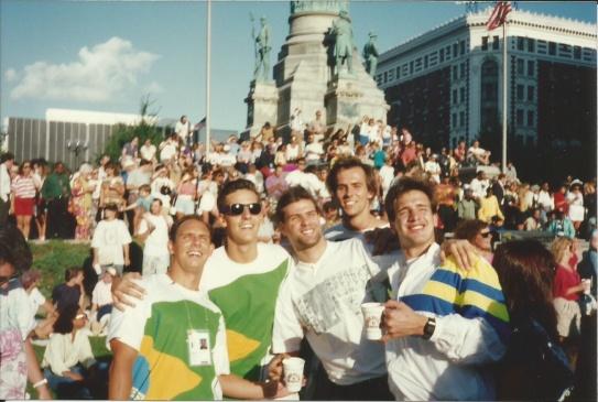 Show ao ar livre em Buffalo 1993. Hermeto, Saboia, Renato, Fralda e Cassiano.